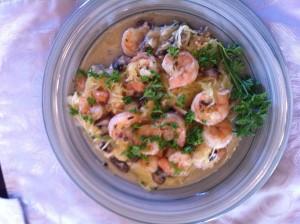 Healthier Shrimp Scampi